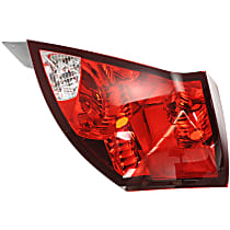 Passenger Side Tail Light, Without bulb(s) - Clear & Red Lens, Sedan