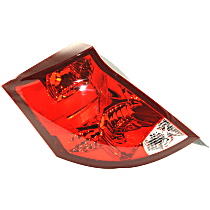 Driver Side Tail Light, Without bulb(s) - Clear & Red Lens, Sedan