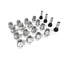Scott Drake Legendary Wheels Lug Nut LW-LN003-16 Conical Lug Nut - Chrome, Steel, Extended Thread, 1/2 in. Thread Universal, Set of 16