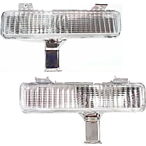 Driver and Passenger Side, Mounted on Bumper Turn Signal Light, Without bulb(s)