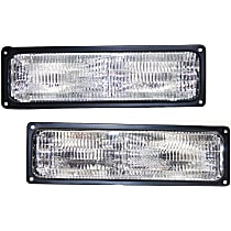 CAPA Certified Driver and Passenger Side Turn Signal Light, Without bulb(s)