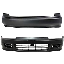 Bumper Cover - Front and Rear, 2 Pieces, Primed, For Hatchback