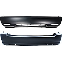 Replacement Bumper Cover - SET-14516-2 - Front and Rear, Primed, w/o Parking Aid Snsr Holes, w/o FL Holes, w/ Side Marker Holes
