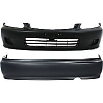 Bumper Cover - Front and Rear, 2 Pieces, Primed, For Coupe or Sedan, For Canada, Japan or US Built Models