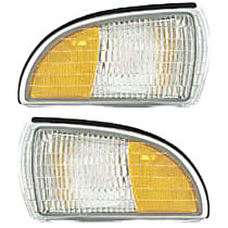 Front, Driver and Passenger Side Side Marker, Without bulb(s)