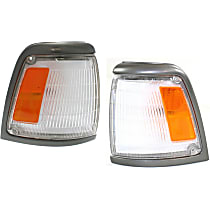 Driver and Passenger Side Corner Light, With bulb(s) - 2WD, Deluxe and SR5 Models, With Gray Trim