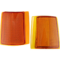 Replacement Reflector - SET-18-5033-01 - Front, Driver and Passenger Side, Upper, Direct Fit