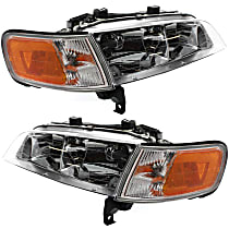 Driver and Passenger Side Headlight, With bulb(s) - With Corner Light