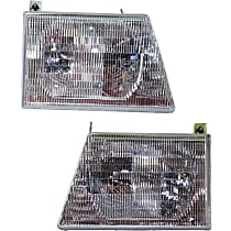Driver and Passenger Side Headlight, With bulb(s) - Composite Type