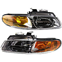 Driver and Passenger Side Halogen Headlight, With Bulb(s) - Single Beam
