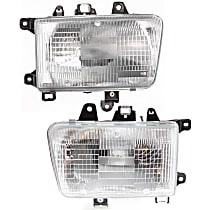 Headlights - Driver and Passenger Side, Pair, Composite, With Bulb(s)