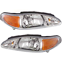 Driver and Passenger Side Halogen Headlight, With Bulb(s) - Sedan/Wagon