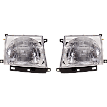 Driver and Passenger Side Halogen Headlights, With bulb(s) - 97-00 Tacoma (2WD/98-04 4WD), Composite