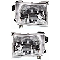 Driver and Passenger Side Halogen Headlight, With Bulb(s) - Production date up to 09/99
