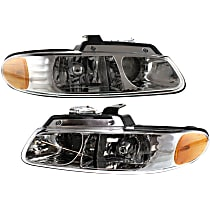 Driver and Passenger Side Headlight, With bulb(s) - Dual Beam