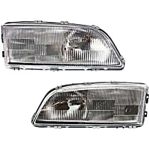 Driver and Passenger Side Headlight, With bulb(s) - Models Without Headlight Leveling