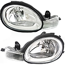 Driver and Passenger Side Halogen Headlight, With Bulb(s) - 2000-2005 Old Body Style