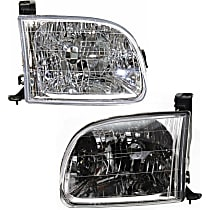 Driver and Passenger Side Headlight, With bulb(s) For Regular/Access Cab Models