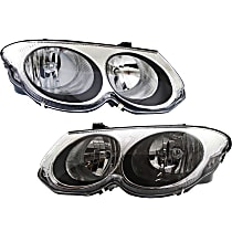 Headlights - Driver and Passenger Side, Pair, With Bulb(s)