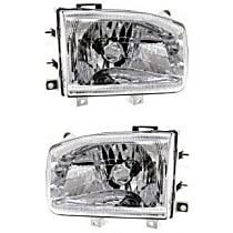 Driver and Passenger Side Halogen Headlight, With Bulb(s) - From 12-98
