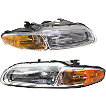Headlights - Driver and Passenger Side, Pair, For Convertible, With Bulb(s)