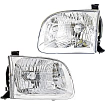 Driver and Passenger Side Headlights, With bulb(s) - 01-04 Sequoia / 04 Tundra (Double Cab)
