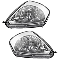 Driver and Passenger Side Halogen Headlight, With Bulb(s) - From 2-02
