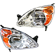 Driver and Passenger Side Headlight, Without bulb(s) - (02-04 CR-V)