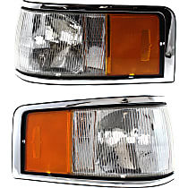 Driver and Passenger Side Corner Light, Without bulb(s)