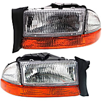 Driver and Passenger Side Headlight, With bulb(s) - (To 8-18-97)