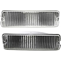 Driver and Passenger Side, Below Headlamp Turn Signal Light, Without bulb(s)