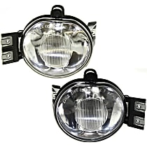 Front, Driver and Passenger Side Fog Light, With bulb(s)