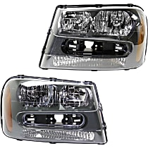 Driver and Passenger Side Halogen Headlight, With Bulb(s) - 02-05 All Models and 06-09 LS/SS Models