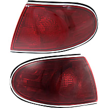 Driver and Passenger Side, Outer Tail Light, Without bulb(s)