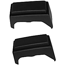 Crown Bumper Guard - SET-52000462-F - Front, Driver and Passenger Side, Black, Plastic, Direct Fit, Set of 2