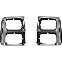 SET-55008046 Headlight Bezel - Black and chrome, Direct Fit, Set of 2