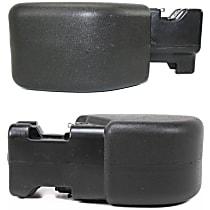 Front, Driver and Passenger Side Plastic Bumper End, Primed