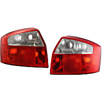 Driver and Passenger Side Tail Light, Without bulb(s) - Clear & Red Lens, Base Model, Sedan