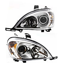 Driver and Passenger Side Halogen Headlight, With bulb(s) - Models With (163) Chassis