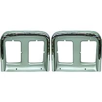 Driver and Passenger Side (Set of 2) Headlight Door, Chrome