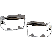 Driver and Passenger Side (Set of 2) Headlight Door, Chrome