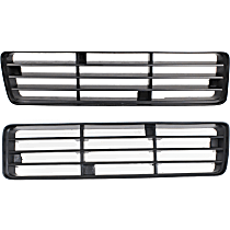 Grille Insert - Painted Black, Driver and Passenger Side, Lower