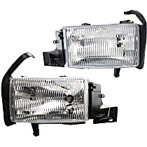 Driver and Passenger Side Headlight, With bulb(s) - (94-01 Ram 1500 94-02 2500/3500 Pickup) - Single Beam Hdlght, Old Body Style, w/o Corner Light