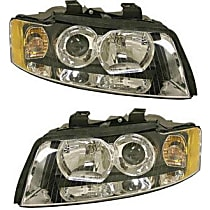 Driver and Passenger Side Halogen Headlight, With Bulb(s) - B6 Body Code