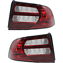 CAPA Certified Driver and Passenger Side Tail Light, Without bulb(s)