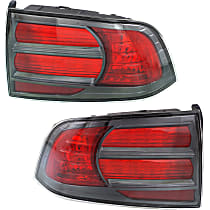 Driver and Passenger Side Tail Light, Without bulb(s) - Red Lens, Type S Model