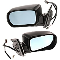 Kool Vue Power Mirror, Driver and Passenger Side, Fits Models w/ Touring Package, Manual Folding, Heated, w/ Memory, Paintable