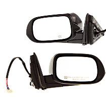 Power Mirror, Driver and Passenger Side, Manual Folding, Heated, w/ Signal, Paintable