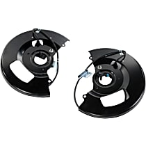 AC Delco SET-AC19211695-F Brake Dust Shields - Black, Direct Fit Front, Driver and Passenger Side, Set of 2