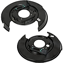 AC Delco SET-AC20933372-R Brake Dust Shields - Black, Direct Fit Rear, Driver and Passenger Side, Set of 2